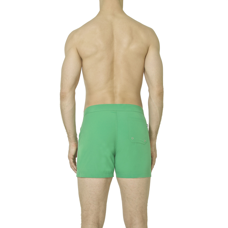 c11accfb01a9e SAILOR: CRISP GREEN. $95.00. Mid-Length Buckle Front Contrast Pipping Swim  Shorts.